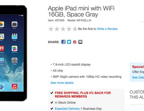 iPad mini Staples Deal