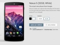 32GB White Nexus 5 Back In Stock