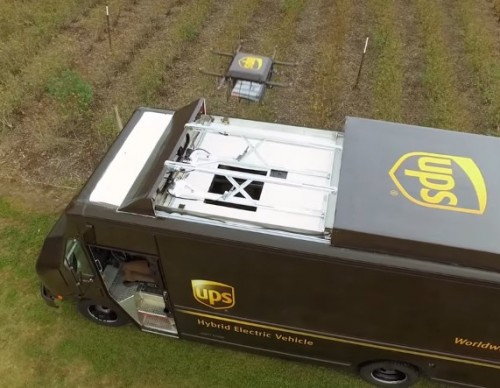 UPS Plans On Launching Drones From Trucks To Complete Deliveries