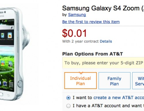 AT&T Samsung Galaxy S4 Zoom Amazon Deal