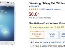 Samsung Galaxy S4 Amazon Deal