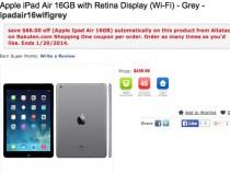 16GB Apple iPad Air Wi-Fi Deal