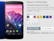 Nexus 5 In Blue Color Option