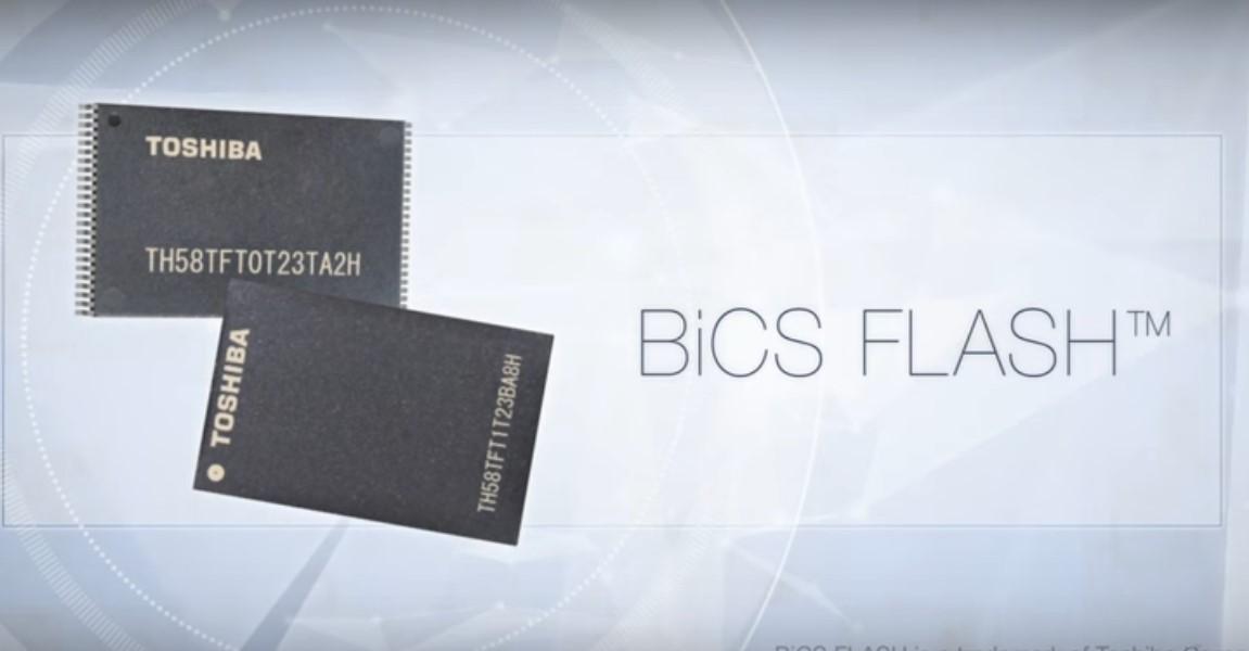 Toshiba 3D flash memory chips