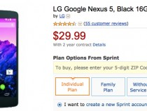Sprint Nexus 5 Amazon Deal