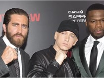 Eminem Posing With His Good Friends 50 Cent And Jake Gyllenhaal
