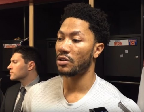 Derrick Rose on staying with the Knicks past the NBA trade deadline.