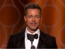 Brad Pitt Makes Surprise Appearance at Golden Globes Gets Standing Ovation