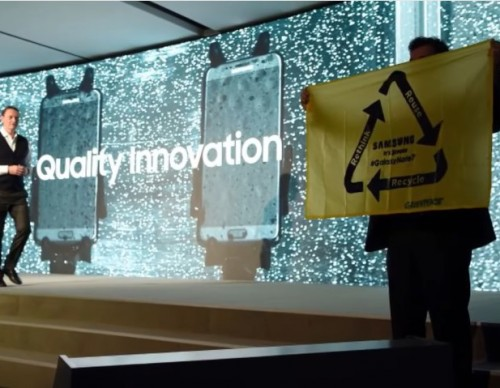 Samsung Embroiled In Fake News And Greenpeace Protest