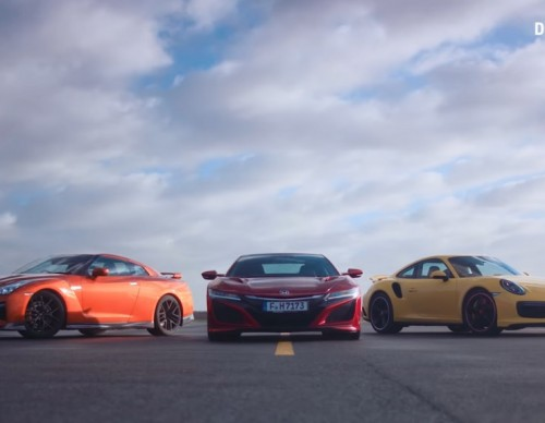 Triple Threat: 2017 Acura NSX vs 2017 Nissan GT-R vs 2017 Porsche 911 Turbo