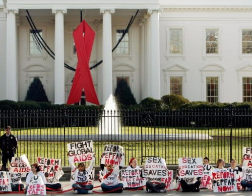 Protestors Flock To Washington Ahead Of World AIDS Day