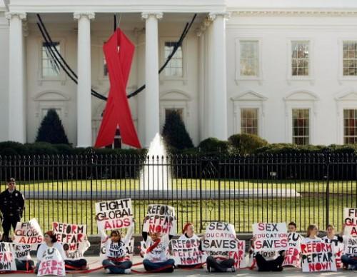 Protestors Flock To Washington Ahead Of World AIDS Day