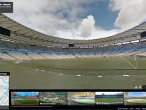 Brazil Maracana stadium om Google Maps Street View