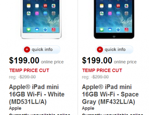 iPad Mini Father's Day promotion at Target