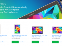 Samsung Galaxy Tab S pre-order page on company website