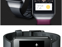 Samsung Gear Live (top) and LG G Watch (bottom)