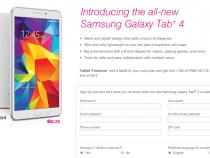 T-Mobile Samsung Galaxy Tab 4 8.0 pre-registration page