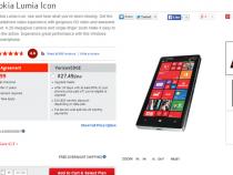 Verizon Nokia Lumia Icon now $49.99