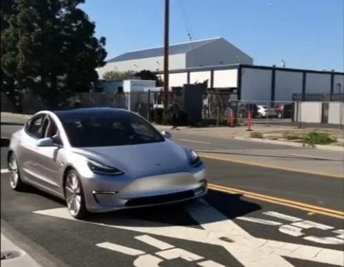 Tesla Model 3 Prototype Finally Hits The Road; Details Inside