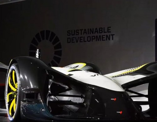 Driverless Concept Race Car Comes Out Of MWC 2017