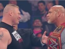 Brock Lesnar attacks new Universal Champion Goldberg