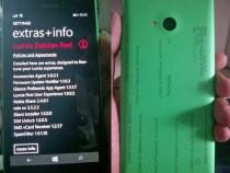 Purported Nokia Lumia 730 with Lumia Debian Red firmware