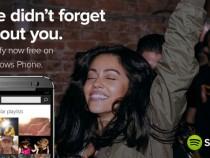 Spotify now free on Windows Phone