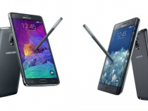 Samsung Galaxy Note 4 (left), Galaxy Note Edge (right)