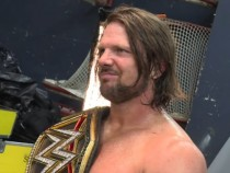 AJ Styles is photographed as WWE World Champion