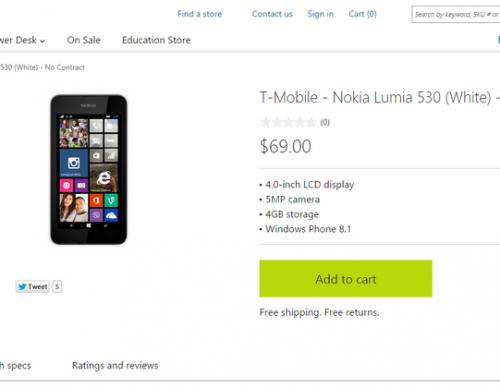 T-Mobile Nokia Lumia 530 on Microsoft Store