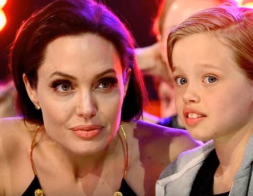 Angelina Jolie Spending Time With One Of Her Kids.
