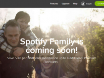 Spotify Family coming soon