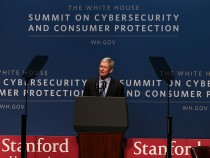 President Obama Speaks At Summit On Cybersecurity And Consumer Protection At Stanford University
