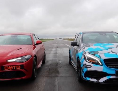Mercedes A45 AMG vs Alfa Romeo Giulia: Which Car Eats The Dust