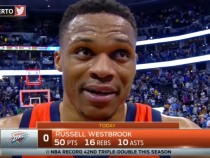 Russell Westbrook Postgame Interview, Thunder vs Nuggets .