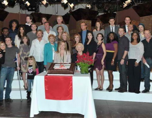 CBS' 'The Young And The Restless' 38th Anniversary Cake Cutting Ceremony