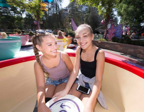Mackenzie Ziegler And Maddie Ziegler Take A Spin At Disneyland