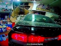 Man Crashes His Dodge Challenger At A Convenience Store And Asks For A Beer