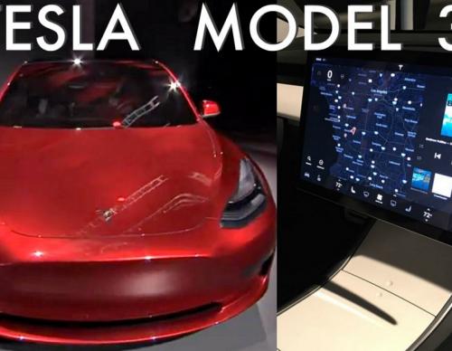 Tesla Model 3 Interior Photo Revealed And It Looks Very Stunning