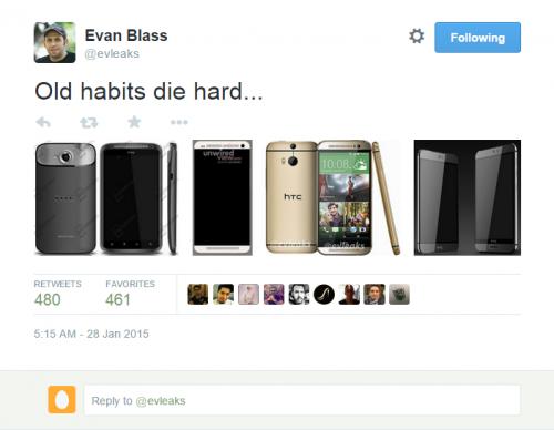 Evleaks reveals purported HTC One M9, M9 Plus models (right)