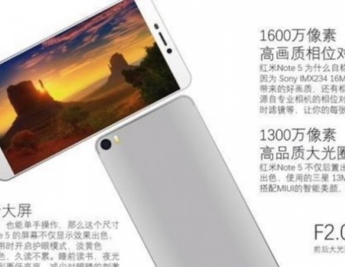 Xiaomi Redmi Note 5 Specs And Launch Date Leaked, Will Come With Snapdragon 630 Or 660 Chipset And 3,790mAh Battery