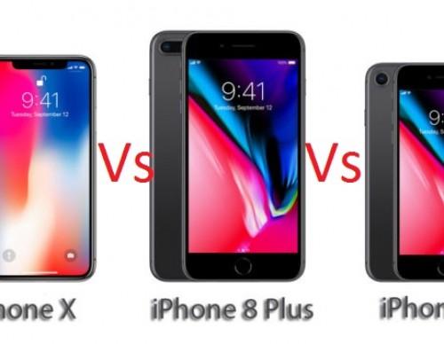 iPhone X vs iPhone 8 vs iPhone 8 Plus: Features and Specs Comparison