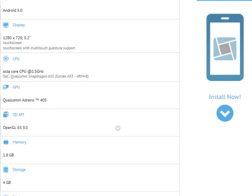 Sony E2303 GFXBench listing