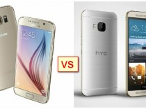 Samsung Galaxy S6 (left) vs. HTC One M9 (right)