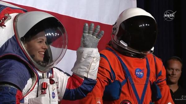 NASA Unveils New High-Tech Spacesuit for Artemis Mission