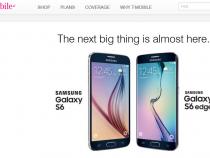 T-Mobile Samsung Galaxy S6, Galaxy S6 Edge pre-pregistration page