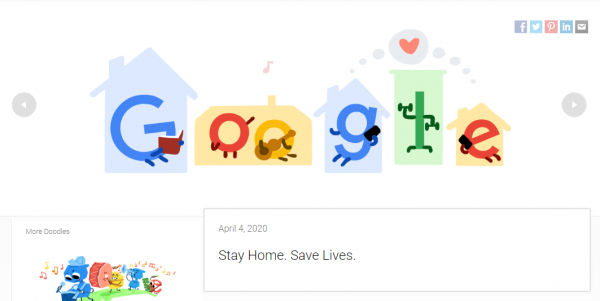 Google Doodle Honors Everyone Fighting the Coronavirus With a Touching Message!