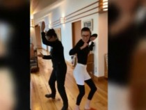 Demi Moore dancing with daughter Tallulah Moore