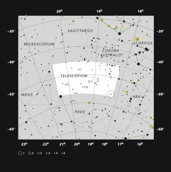 Telescopium Constellation