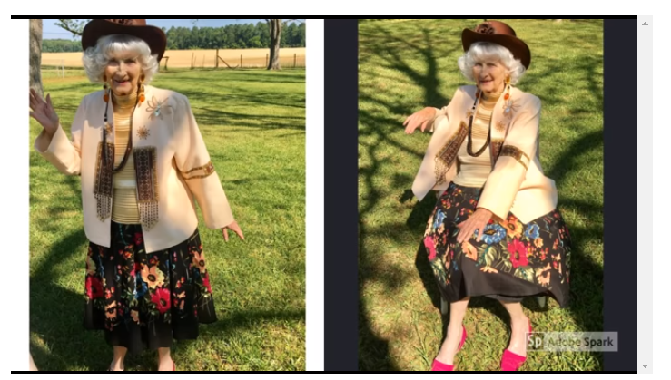 Watch: 91-year-old Granny Kills Boredom By Modelling Her Favorite Outfits During Coronavirus Lockdown